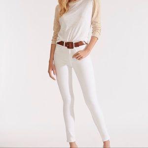 VERONICA BEARD Kate High Rise Skinny Jeans white